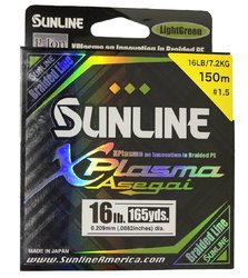 SUNLINE braided line XPlasma Asegai 150m/16 Lbs-LGR