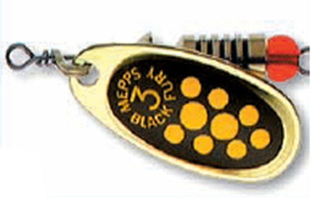 Třpytka Mepps Black Fury vel.00  žlutá/zlatá