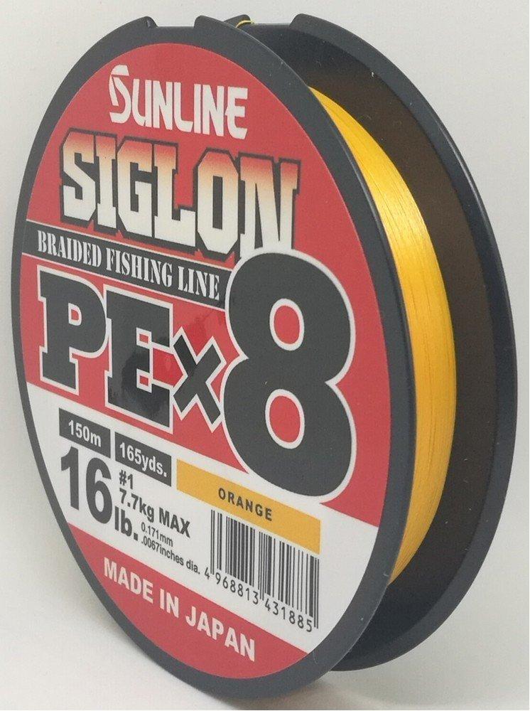 SUNLINE šňůra SIGLON PEx8 150m/25Lbs/0,209mm-OR