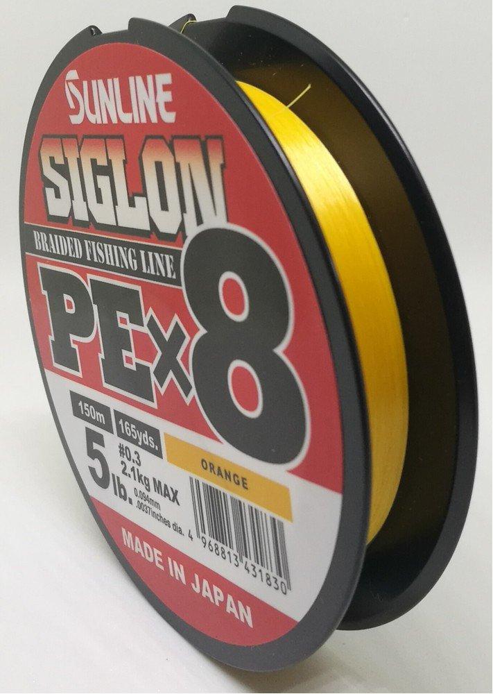 SUNLINE šňůra SIGLON PEx8 150m/5 Lbs/0,094 mm-OR