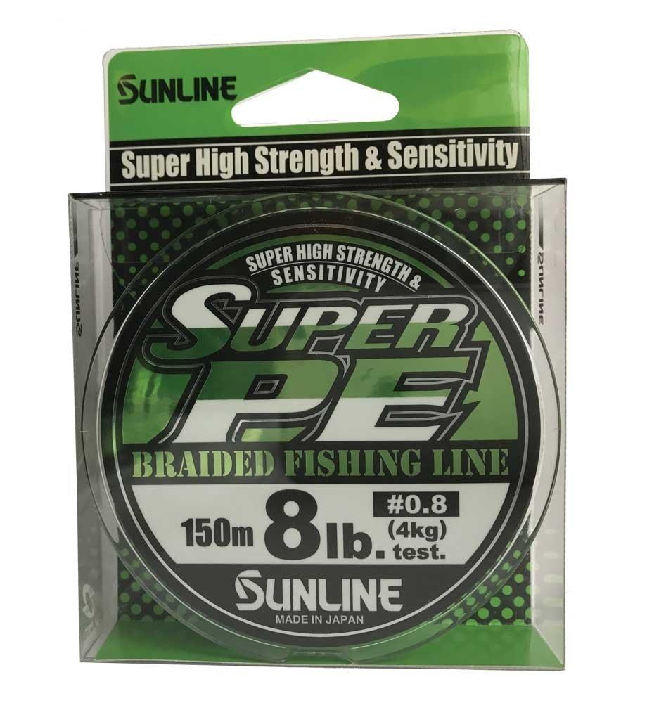 SUNLINE šňůra NEW SUPER PE 150m/8 Lbs/0,153 mm-LGR