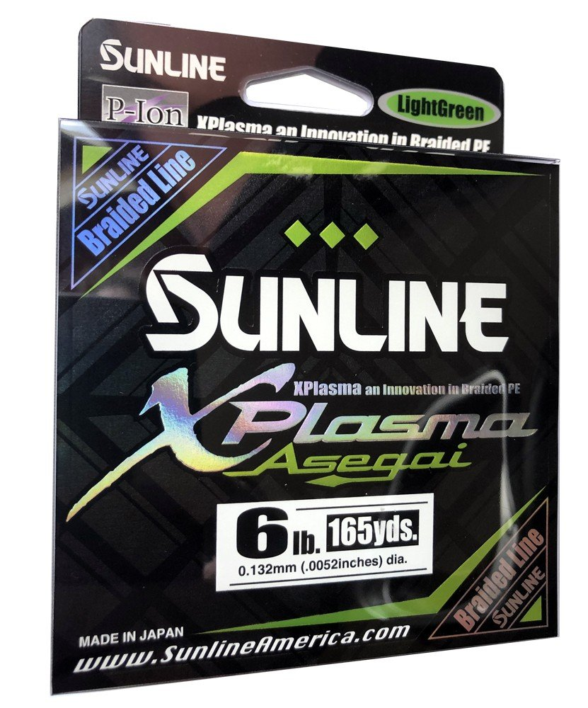 SUNLINE šňůra XPlasma Asegai 150m/6 Lbs - LGR