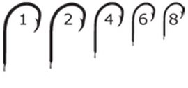 háček Mustad CL-lopatka vel.04 / 50ks /530CL.04