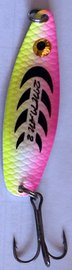 Třpytka ZICO Bloody fish,40 mm,5g-růžová/žlutá