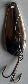 Třpytka ZICO Bloody fish,31 mm,3,5g-stříbrná