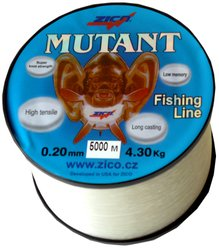 vlasec ZICO-Mutant 0.20/4.3kg 5000m - bílá ryba