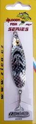 Třpytka ZICO Bloody fish,40 mm,5g-stříbrná