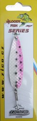 Třpytka ZICO Bloody fish,40 mm,5g-růžová/bílá