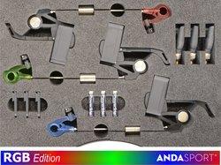ANDA indikátory-3ks v kufírku,dioda Č+Z+M