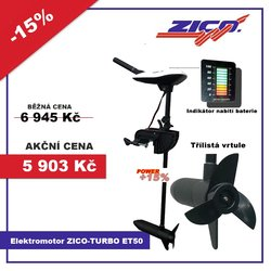 elektromotor ZICO-TURBO,výtl.1650 kg ET50,voltmetr
