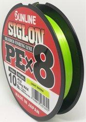 SUNLINE šňůra SIGLON PEx8 150m/10 Lbs/0,132 mm-LGR