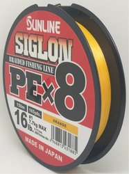SUNLINE šňůra SIGLON PEx8 150m/16 Lbs/0,171 mm-OR