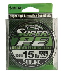 SUNLINE šňůra NEW SUPER PE 150m/15 Lbs/0,209mm-LGR