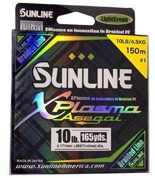 SUNLINE šňůra XPlasma Asegai 150m/10 Lbs-LGR